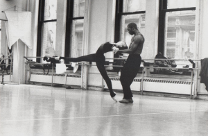 Sandra Brown rehearsing Othello with Desmond Richardson