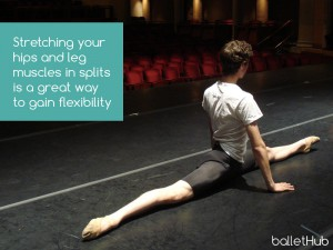 stretching splits in ballet