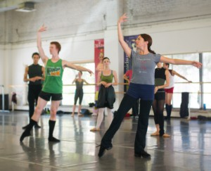 Sandra Brown teaching Company Class to artists of the Colorado Ballet