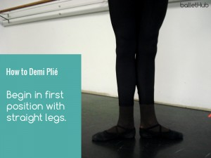 how to demi plie start in ballet position with straight legs