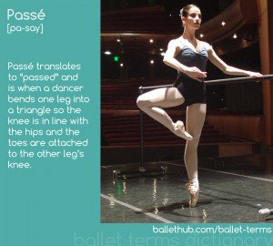 ballet term passe defintion
