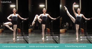 Proper Developpe a la second in classical ballet