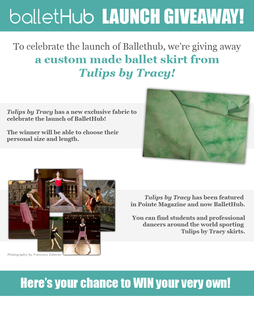 Win a custom made ballet skirt by Tulips by Tracy