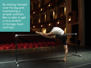 Strecthing at the Barre