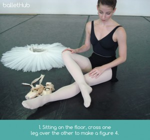 foot stretching technique for ballet dancers
