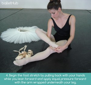 foot stretching on ground for better feet dancer