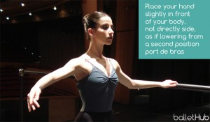 where to place your hand on barre in ballet class