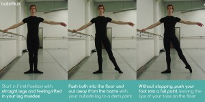 basic look at tendu in classical ballet