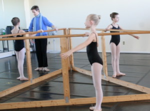 ballet students being taught in a level placement class