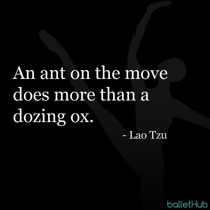 ballet quote an ant on the move…
