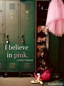 ballet quote i believe in pink