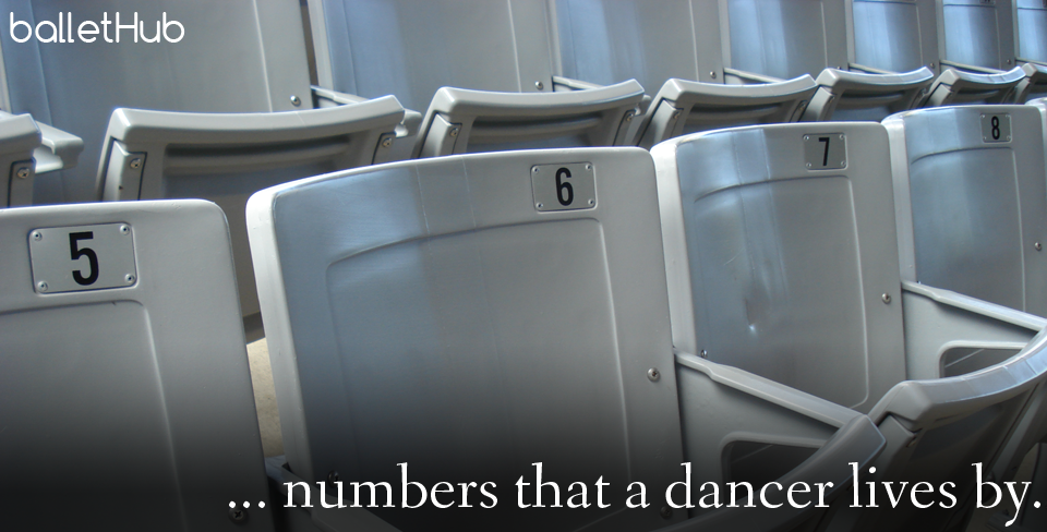 5678, numbers that a dancer lives by. ballet quote