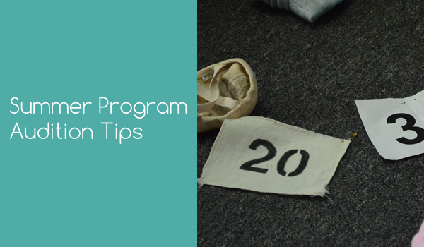 Summer Program Audition Tips