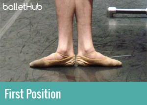five basic positions of ballet first position of the feet