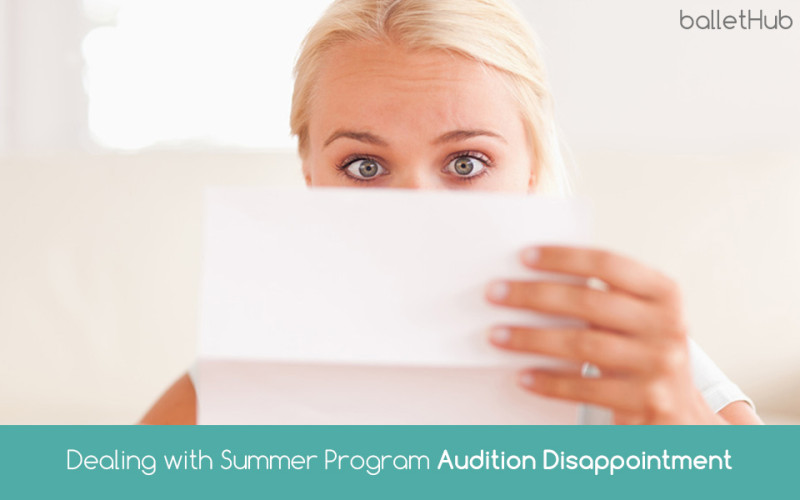 Dealing with Summer Programs Audition Disappointment