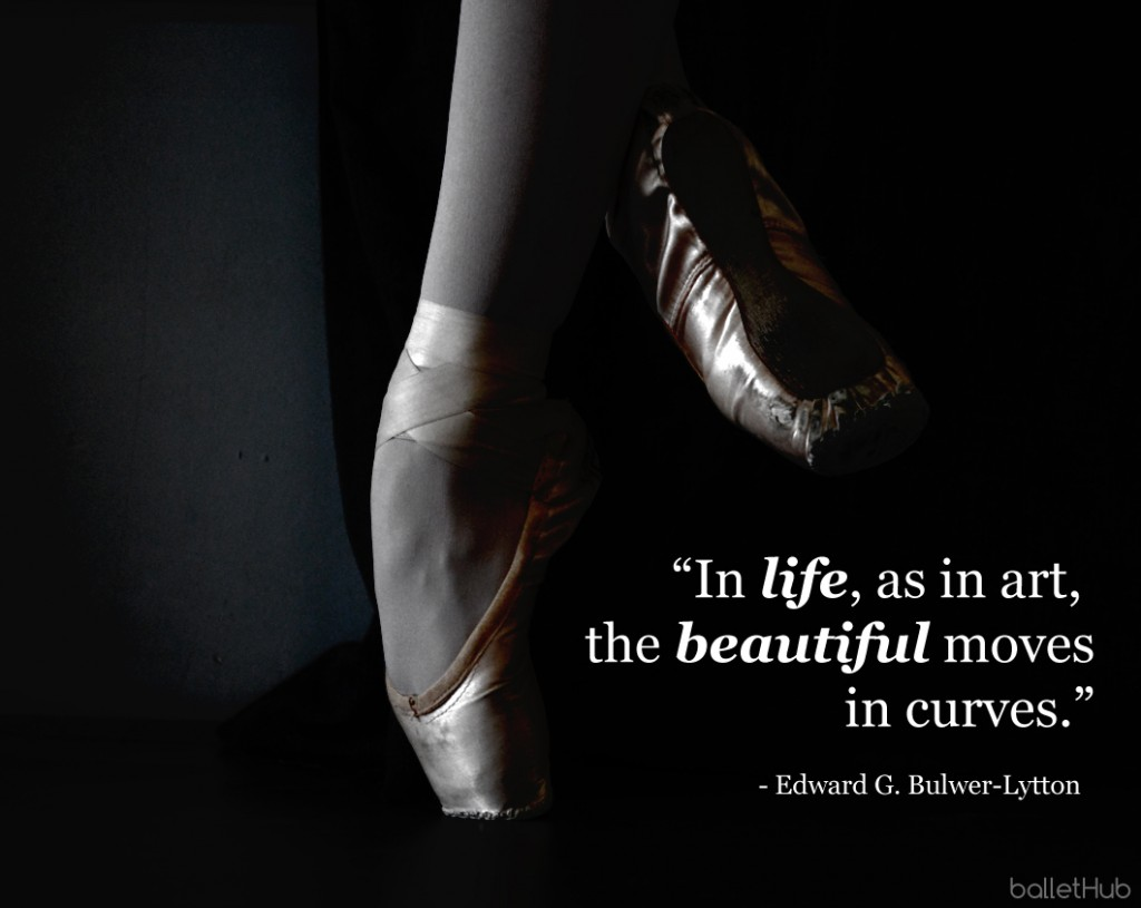 In life, as in art… ballet quote
