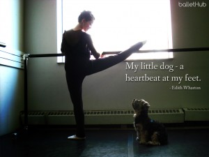 ballet quote … a heartbeat at my feet