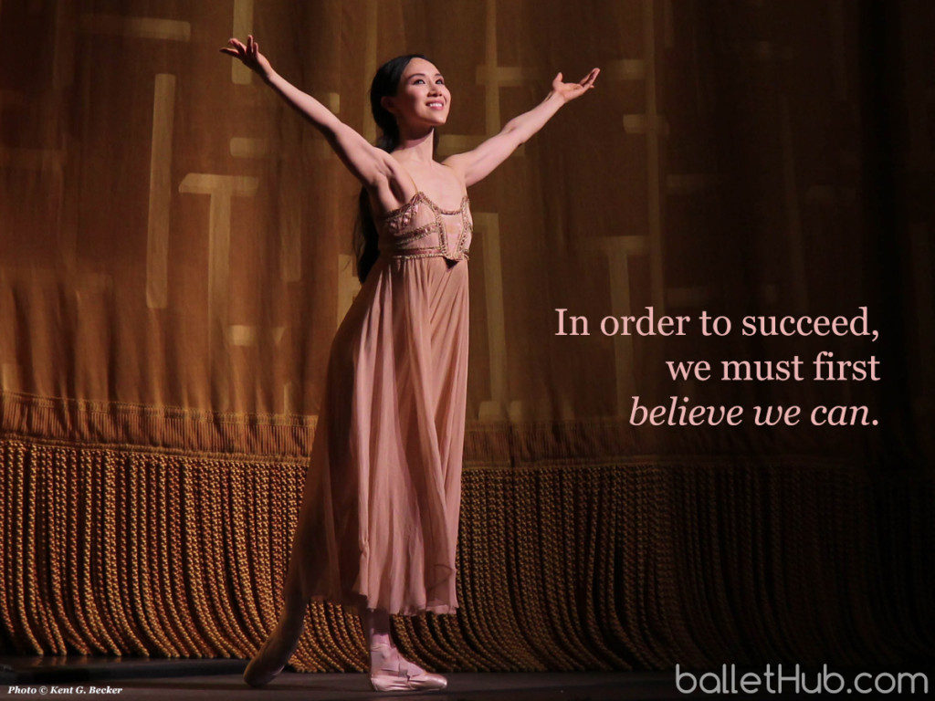 In order to succeed… ballet quote