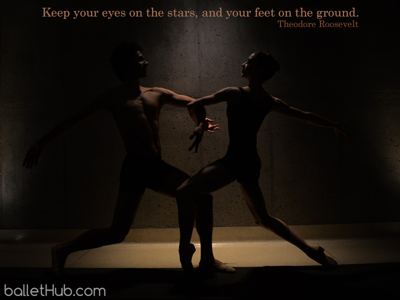 ballet quote keep your eyes on the stars…