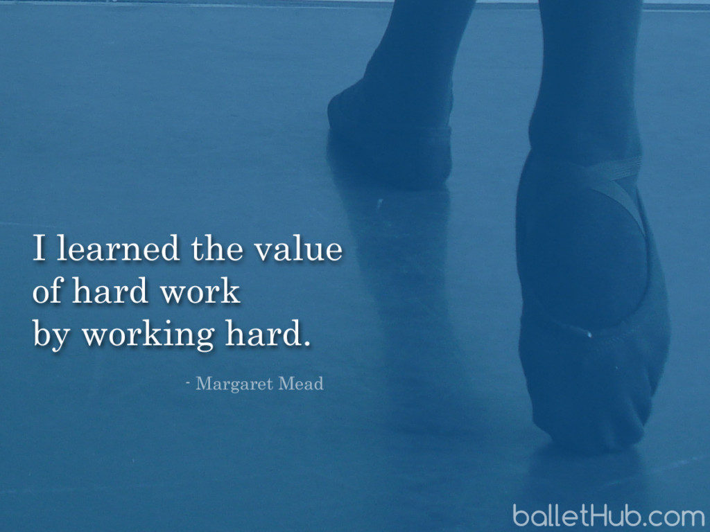 ballet quote i learned the value…