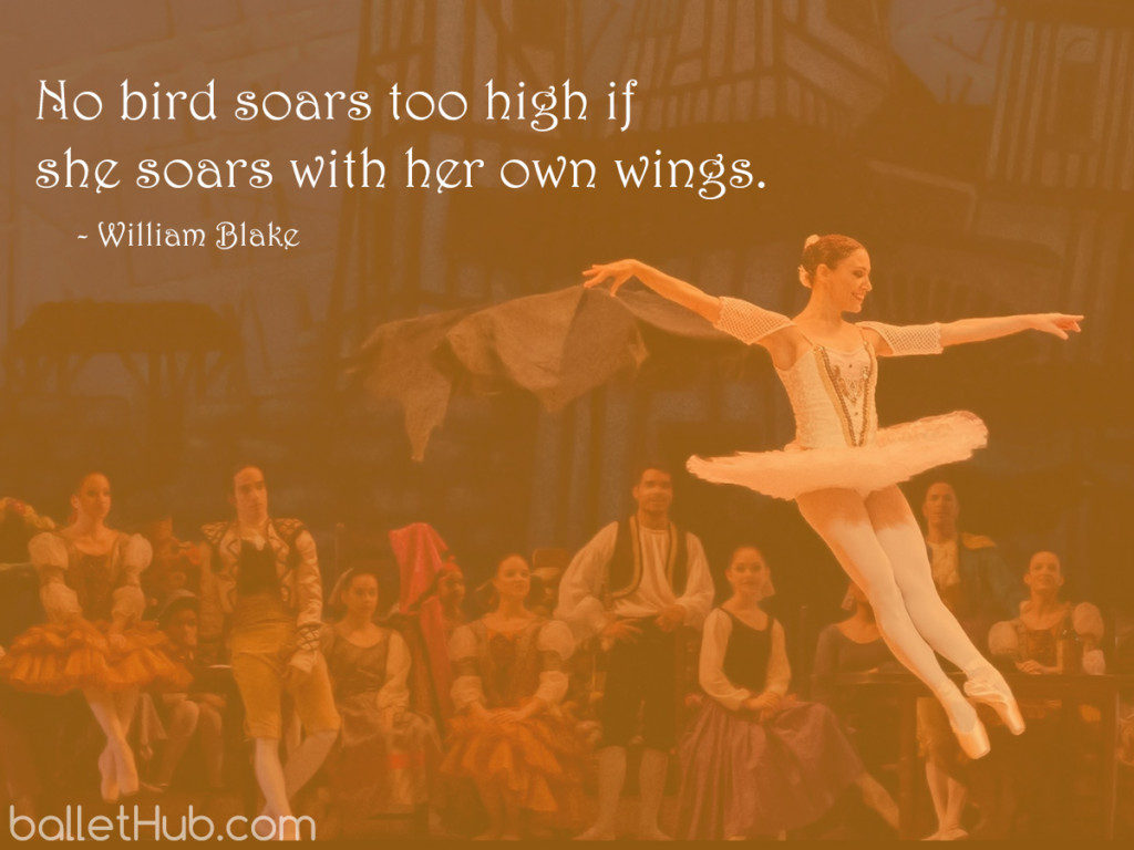 No bird soars too high… ballet quote