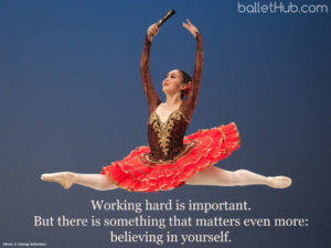 ballet quote working hard is important…