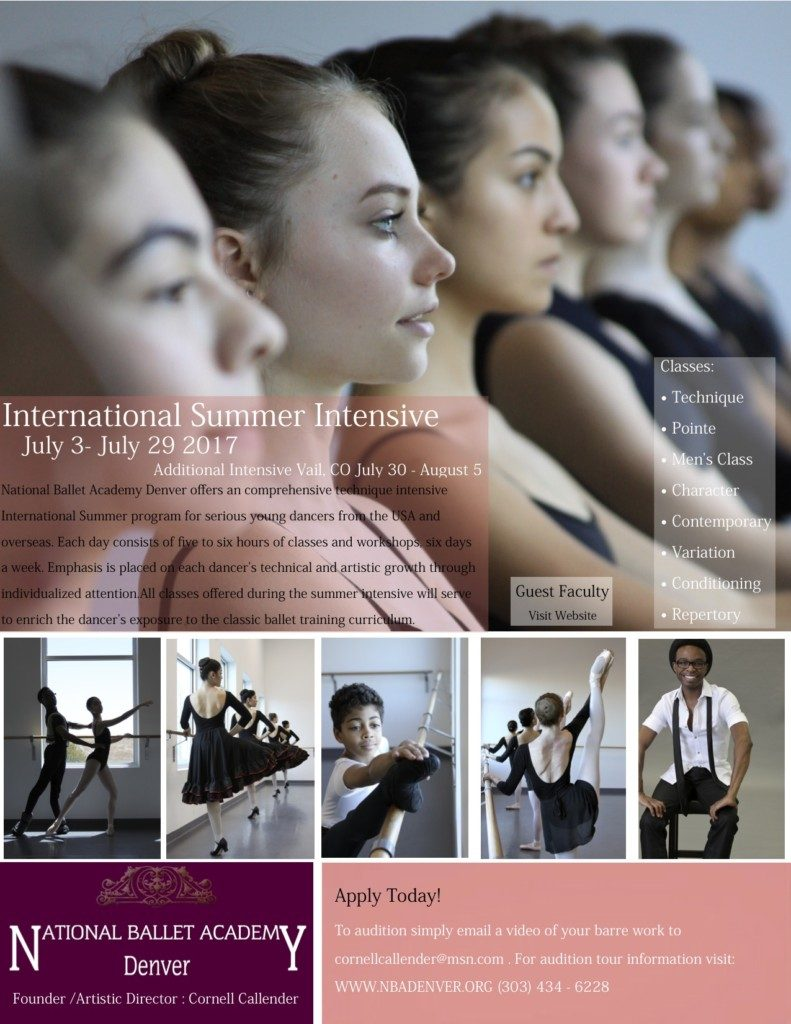 National Ballet Academy Denver's International Summer Intensive Program