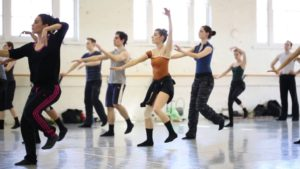 BalletMet Dancers in the studio with Monica Cervantes