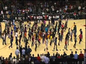 Bulls Game Flash Mob