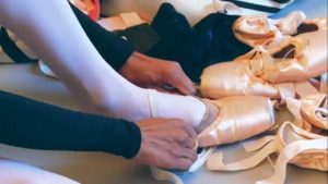 First Soloist Tina Pereira Prepares Her Pointe Shoes