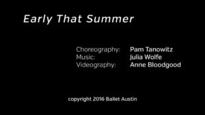 Inside the Studio: 2016 Director's Choice–Pam Tanowitz