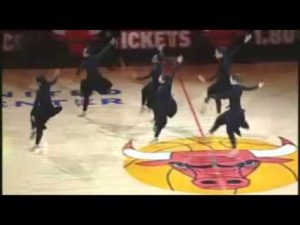 Joffrey's Exelon Strobel Step-Up students performing at the Bulls halftime show