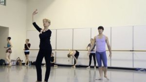 Rehearsing Balanchine's Agon with Francia Russell