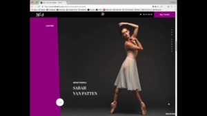 Website Tour: Ballet Pages