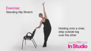 In Studio: Standing Hip Stretch | The National Ballet of Canada