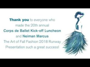 Atlanta Ballet's Corps de Ballet Luncheon & Neiman Marcus The Art of Fall Fashion Presentation 2018
