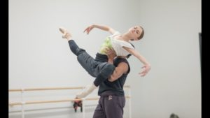 Oksana Maslova and Jermel Johnson in Rehearsal for Glass Pieces Pas de Deux