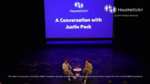 Houston Ballet – Dance Talk – Justin Peck 3.12.2019