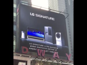 #LGSIGNATURExABT Billboard in Times Square!