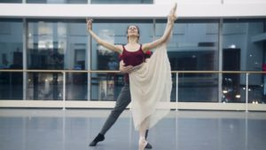 Victoria Jaiani and Miguel Angel Blanco in Rehearsal for The Nutcracker